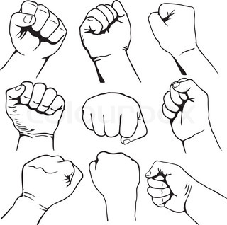 How to draw a black power fist