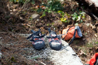 Pair of climbing shoes
