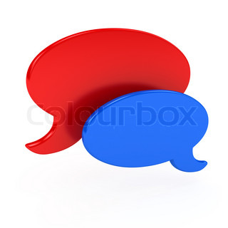 Chat symbol over white background. 3d computer generated image