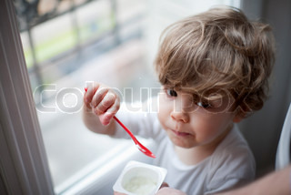 Image of 'yoghurt, kids, child'