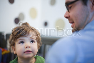 Image of 'fatherhood, adult men, color images'