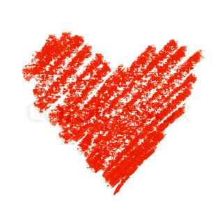 Painted Red Heart Symbol.