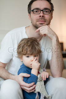Image of 'single father, eyes, hand'