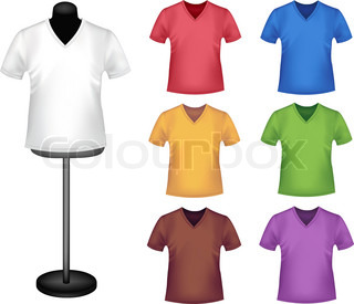 T-shirts with mannequins. Vector.