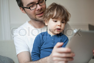 Image of 'digital tablet, child, kid'