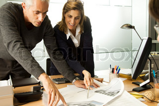 ©Sigrid Olsson/AltoPress/Maxppp ; Colleagues working together in office