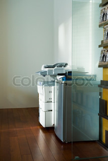 ©Eric Audras/AltoPress/Maxppp ; Photocopier in corner of office