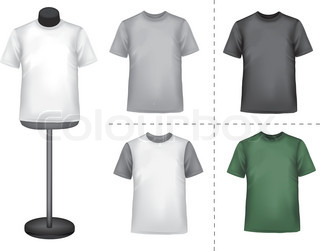 Polo shirts with mannequins. Vector.