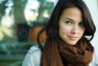 Bild von 'nur eine Frau, im Freien, Behagen'
