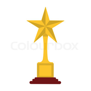 golden star award and a row of stars on red curtain background rh colourbox com Line of Stars Clip Art Line of Stars Clip Art