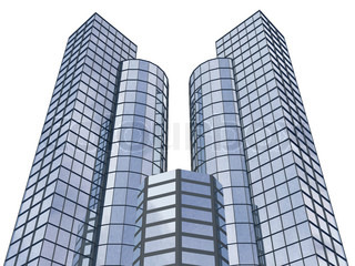 3d abstract skyscrapers for company presentation. 3D render