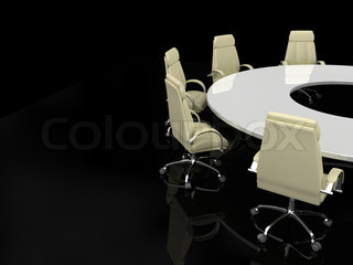 Business concept, Financial conference. 3d render