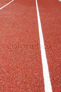 Close up of a rubber track - outdoor shot