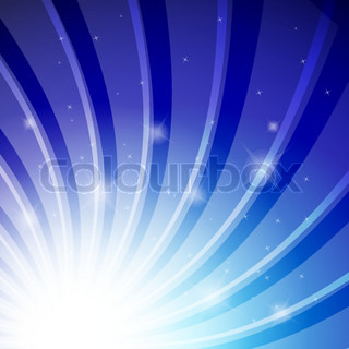 the abstract vector background colorfull blue star