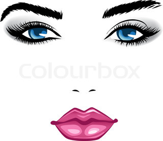 beauty face girl. Vector illustration