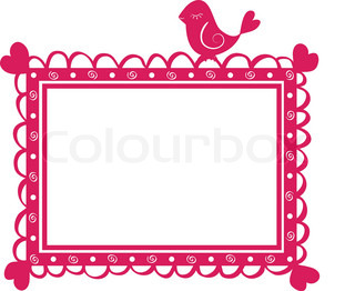 cute  banner frame with bird. Vector illustration