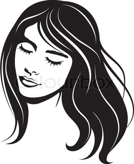 beauty face girl portrait. abstract vector illustration