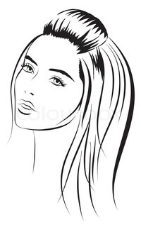 beauty vector face girl portrait. Vector illustration