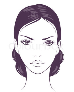 beauty face girl. Abstract people vector illustration