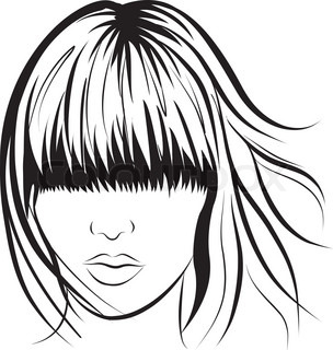abstract vector woman face. Art work illustration