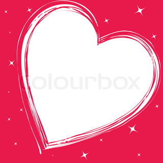 Love card with hearts vector illustration colorful clipart