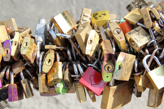Chain of wedding locks