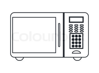 microwave clipart black and white. microwave oven icon clipart black and white 3