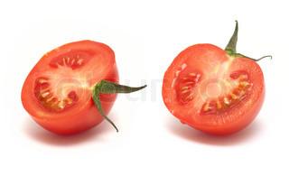 Tomate Scheibe isoliert auf weiss
