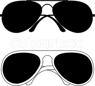 isolated black trendy classical sunglasses in metal and white plastic frames on white background