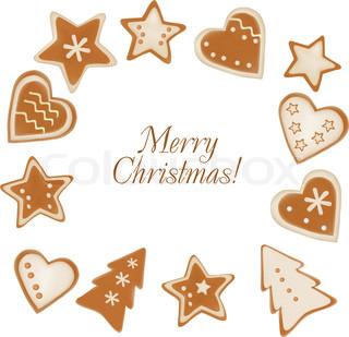 Christmas frame baggrund af honningkager .