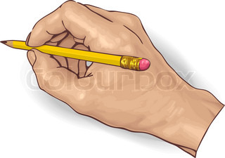 vector illustration of an hand drawing with a pencil.
