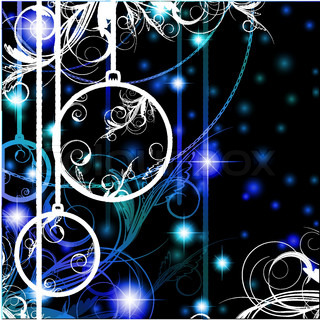 New year and Christmas theme with ball and floral decoration