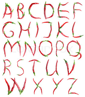 alphabet, red hot chilli peppers