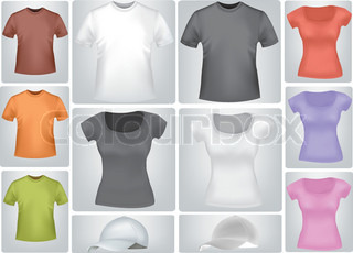 Shirts. Photo-realistic vector illustration.