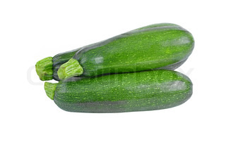 Green vegetable marrow (zucchini), isolated on white background