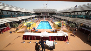 people in cruise ship, raising popularity of cruises recently in Persian Gulf.