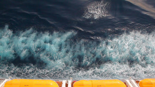 water outboard cruise ship moving in sea