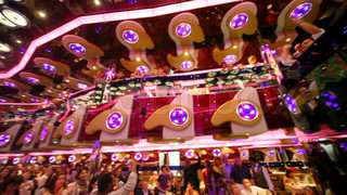 people eats in restaurant and looks show in Costa Deliziosa - the newest Costa cruise ship