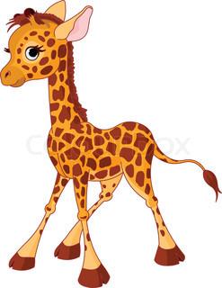 Illustration af lidt morsomme giraf Calf