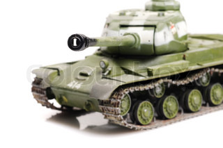 Model of soviet ww2 tank IS-2 isolated on white