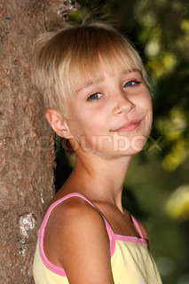 summer vacation, childhood, girl in park