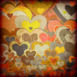 grunge love pattern background
