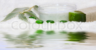 Spa aromatherapy on white background