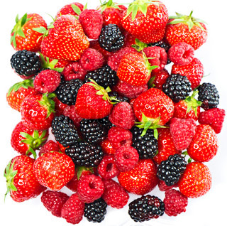 mix of fresh summer berries