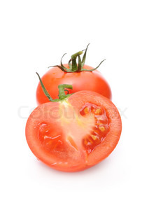 Red Tomatoes Isolated on White Background