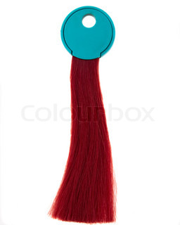 sample lock of hair color on a white background