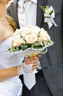 Wedding bouquet from pink roses