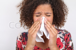 Image of 'blowing, cold and flu, blowing nose'