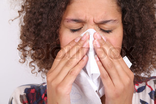 Image of 'blowing, sniffle, cold and flu'