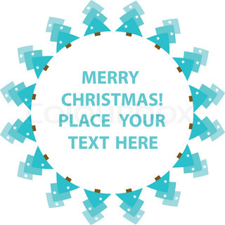 Frame with abstract snowy christmas tree. You can put in your text.